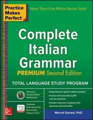 NEW Practice Makes Perfect Complete Italian Grammar By Danesi Paperback