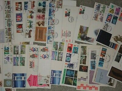 19 Commemorative First Day covers.GB Stamps.1966-1984. Good Con