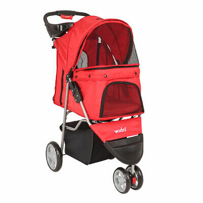 Wido RED PET STROLLER DOG PUPPY CAT PUSHCHAIR ACCESSORY BUGGY TOY CARRIER TRAVEL