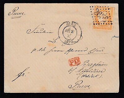 N°38 Gc 2656 Nice Alpes Maritimes Bergheim Allemagne Prusse Lettre Cover France