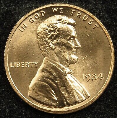 1984 Uncirculated Lincoln Memorial Cent Penny (B05)