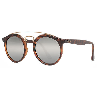 Ray Ban RB4256 6092/6G 49mm Gatsby I Tortoise Silver Mirror Round Sunglasses