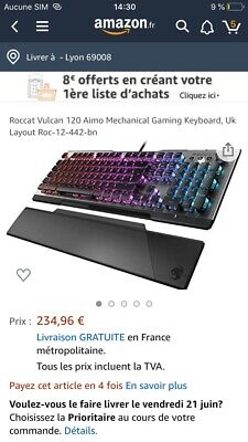 Clavier Roccat Vulcan 120 Aimo Mechanical Gaming Keyboard