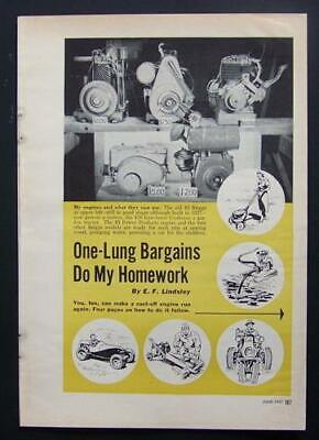 Tune & Service single cylinder One Lung Engines 1951 INFO Briggs & Stratton+MORE