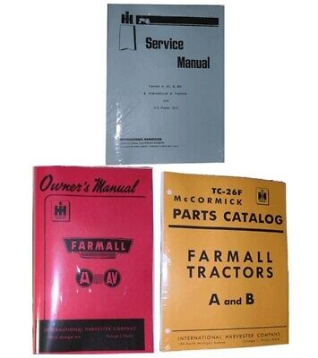 McCORMICK FARMALL A AV Owner's Service Parts Catalog