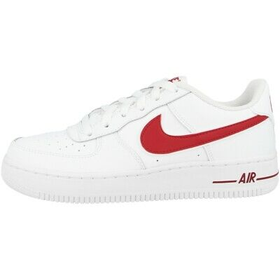 NIKE AIR FORCE 1 3 GS White Red Größe 37 37,5 weiß rot