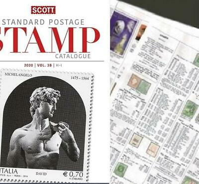 Israel REMNANT 2020 Scott Catalogue Pages 593-646