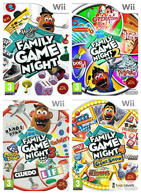 Wii - Family Game Night - Same Day Dispatched - boxed VGC *Multi-Listing*