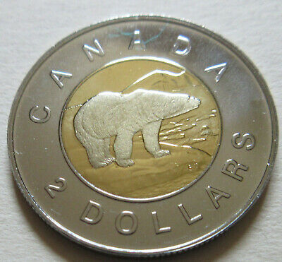 1998 W Canada PROOF Toonie Two Dollar Coin. UNC. (D320)