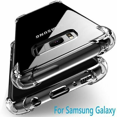 CLEAR Case For Samsung Galaxy S10 Plus S10 S10e S8 Silicone Gel Shockproof TOUGH