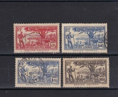 Ivory Coast - 1936/42 four USED stamps