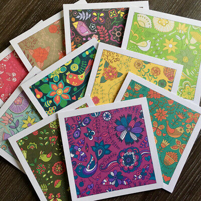 WHOLESALE GREETING CARDS - 30 blank cards, 10 designs suitable for all occasions