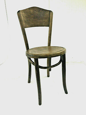 Vintage WOOD BISTRO CHAIR bentwood ice cream parlor side antique art deco wooden