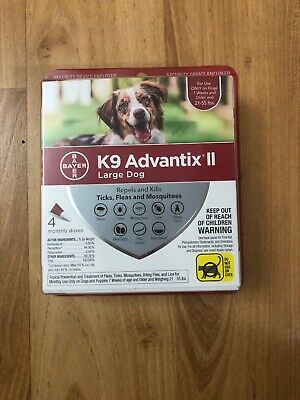 Bayer K9 Advantix II, Large Dogs, Size 21-55 lbs, Pack Of 4