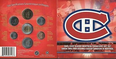 2006 Montreal Canadiens 7 Coin Gift Set. Colorized quarter 25 cents. NHL RCM