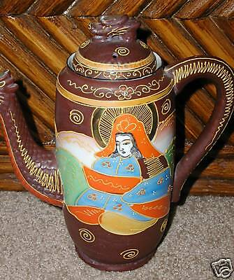 Dragonware Tea Pot With Lid Orange Madonna Red Dragon