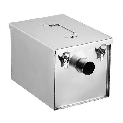 8lbs 5GPM Gallon Per Minute Stainless Steel Grease Trap Interceptor