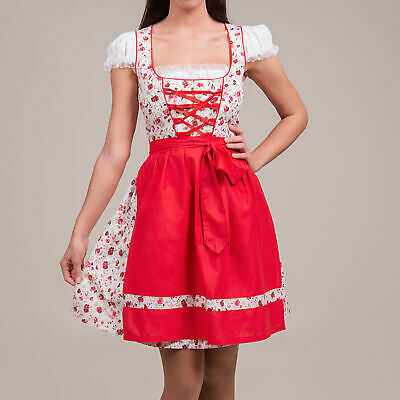 NEW! Sz 8 Germany,German,Trachten,Oktoberfest,Dirndl Dress,2-pc.Reds