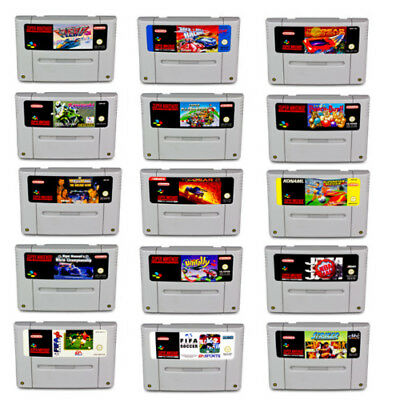 Snes Game F-Zero Fifa Iss Super Mario Kart Super Soccer Super Tennis Top Gear