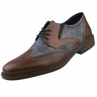 RIEKER B0812 01 MENS Leather Extra Wide Fit Lace Up Comfort