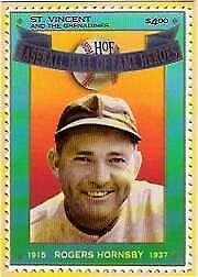 1992 St. Vincent HOF Heroes Stamps #6 Rogers Hornsby