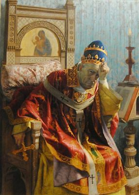 "high quality oil painting handpainted on canvas ""Pope Boniface VIII""@NO10023"
