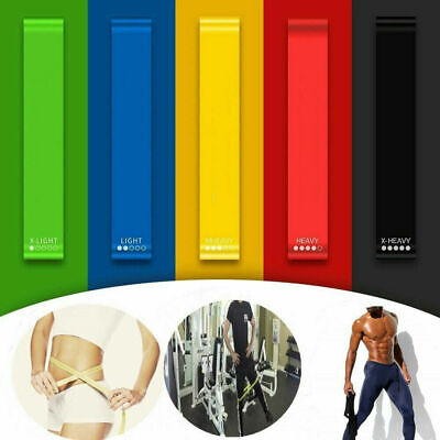 Resistance Elastic Fitness Band Rubber Yoga Gym Strength Training Bands Loop