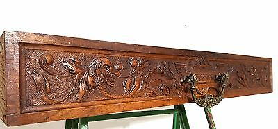 Devil bronze handle griffin drawer Antique french carved wood salvaged furniture