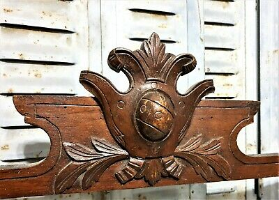 Weathered gothic shield blazon pediment Antique french architectural salvage