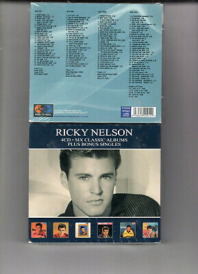 Ricky Nelson - Six Classic Albums (4Cd 2019) New  102 Tracks