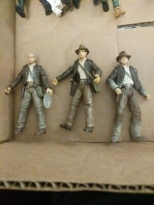 Indiana Jones AUTHENTIC Lot Of 3 Figures Crystal Skull Raiders of the lost Ark