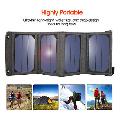 Suaoki 7W/14W/60W Portable Solar Panel Phone Charger 5V USB Charging For Camping
