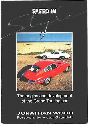 Book Speed in style, Grand Touring cars, by Jonathan Wood, hardcover 1991