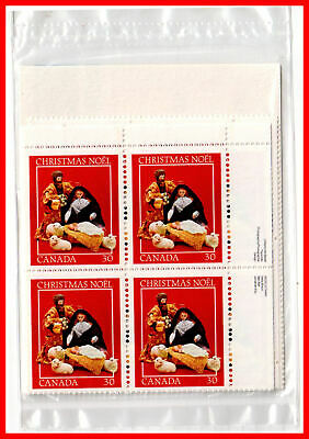 Canada Stamp Full Set of 4  Mint Plate Blocks  #973 - Christmas-Creche Figures