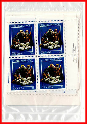 Canada Stamp Full Set of 4  Mint Plate Blocks  #974 - Christmas-Creche Figures