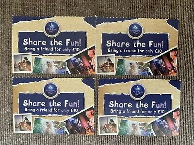 4 x Merlin Annual Pass SHARE THE FUN Bring a friend for £10 VOUCHER Free Postage