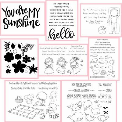 Summer Pharses Holiday Transparent Clear Silicone Stamp/Seal scrapbooking Crafts