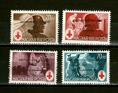💎Fedymes.1944 Red-Cross ovpt. Czechoslovakia.CSSR. of Hungary.Ungarn