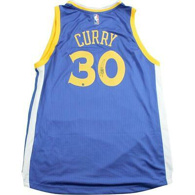 Stephen Curry Golden State Warriors Signed Blue Adidas Swingman Jersey