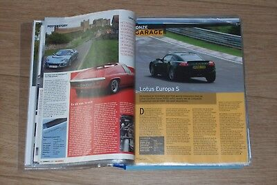 Collection of 50 magazine articles Lotus Europa and Evora 1995 - 2015