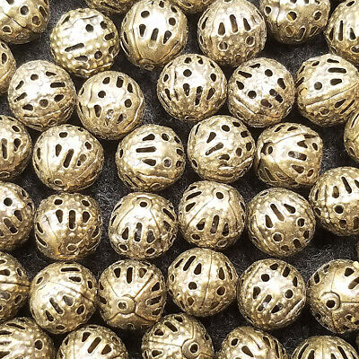 4MM Hollow plate Free Bronze Round Beads Material 200PCS Charm spacer Jewelry