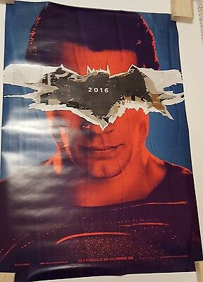 BATMAN V SUPERMAN DAWN OF JUSTICE 2016 27x40 Genuine Movie Poster 1-Sheet DS ADV