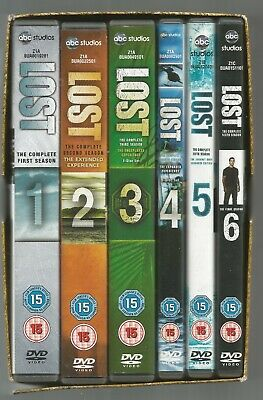 Lost - Complete Collection - Season 1-6 - Uk R2 Dvd Box Set - Series 1 2 3 4 5 6