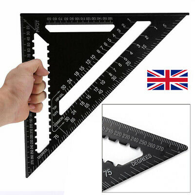 12Inch ROOFING SPEED SQUARE ALUMINIUM RAFTER ANGLE MEASURE TRIANGLE GUIDE TOOL