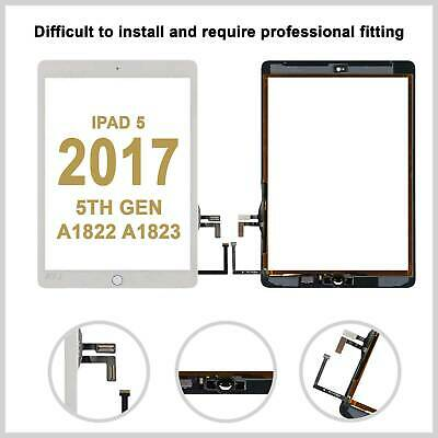 Touch Screen Digitizer Replacement  For 2017 9.7 iPad 5th Generation A1822 White