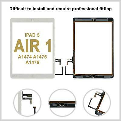 Touch Screen Digitizer Glass Lens For iPad Air 1 A1474 A1475 A1476 OEM IC -White