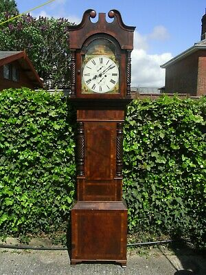 Portsmouth / Portsea 19th Century 8-Day Mahogany Grandfather Clock // Longcase