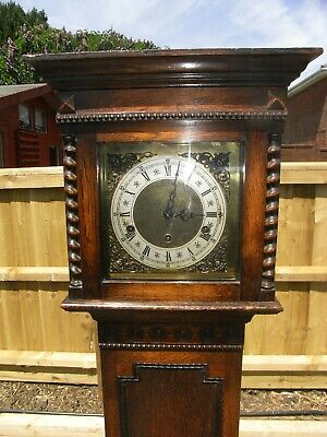 "Large 5ft 8"" Edwardian Grandmother Clock with Westminster Chimes / Grandfather"