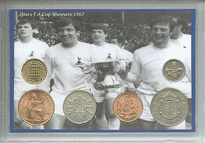 Tottenham Hotspur Spurs Vintage F.A Cup Final Winners Retro Coin Gift Set 1967