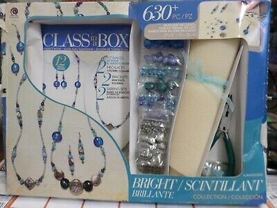 Bright Scintillant Collection Class in a Box 630 piece Jewelry making Kit